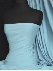 Scuba Stretch Poly Lycra Fabric- Baby Blue Q792 BBL