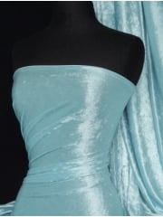 Marble Texture Velvet Lycra 4 Way Stretch Fabric- Baby Blue Q172 BBL