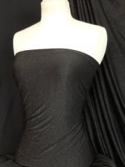 Shimmer Gold Polyester 4 Way Stretch Fabric- Black SQ41 BKGD