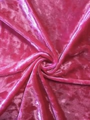 Marble Texture Velvet Lycra 4 Way Stretch Fabric- Cerise Pink Q172 CRS