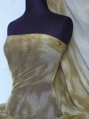 Tie-Dye Fishnet 4 Way Stretch Material- Khaki Q713 KH