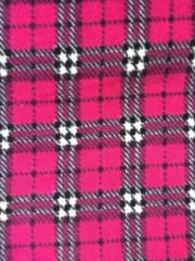 Polar Fleece Anti Pill Washable Soft Fabric- Trinian Tartan Pink Q1405 PNBK
