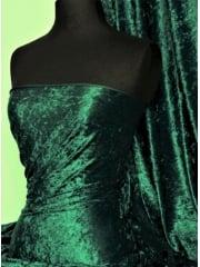 Marble Texture Velvet Lycra 4 Way Stretch Fabric- Bottle Green Q172 BTGR
