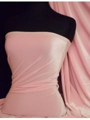 Velvet /Velour 4 Way Stretch Spandex Lycra- Baby Pink Q559 BPN