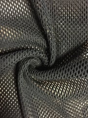 Fishnet Diamond 4 Way Stretch Material- Black SQ206 BK