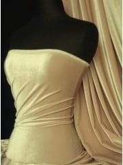 Clearance Velvet/Velour Stretch Spandex Lycra Fabric- Cappuccino Q1174 CPO