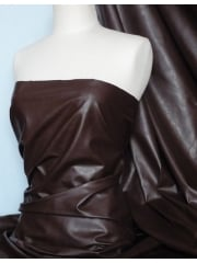 Leatherette Fabric PVC Faux Leather Material- Brown Q623 BR