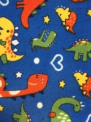 Polar Fleece Anti Pill Washable Soft Fabric- Dinosaur Park Q1411 BLMLT