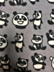 Polar Fleece Anti Pill Washable Soft Fabric- Panda Bears Q1412 GRBK