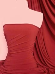 Micro Lycra 4 Way Stretch Fabric - Red Q259 RD