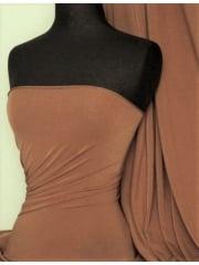Micro Lycra 4 Way Stretch Fabric - Mocha Q259 MCH