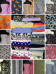Offcuts/Remnants Joblot Assorted Mixed Bundle- Plain/Printed Fabrics