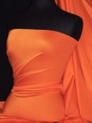Shiny Lycra 4 Way Stretch  Material - Apricot Orange Q54 APR