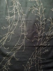 Helenka Mesh Sheer Stretch Fabric- Black/Gold Tree Branch HM BKGLD