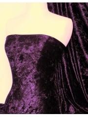 Marble Texture Velvet Lycra 4 Way Stretch Fabric- Aubergine Q172 AUB