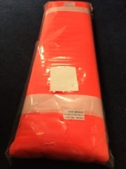 25 METRES Organza Sparkle Shimmer Net Material Job Lot Bolt- Fluorescent Orange JBL10 FLOR