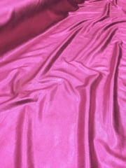 20 METRES Metallic Foil 4 Way Stretch Lycra Material Job Lot Bolt- Cerise Pink JBL12 CRS
