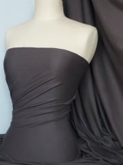 Soft Fine Rib 100% Cotton Knit Material - Platinum Grey Q61 PTGR