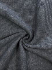 100% Cotton Jersey 2 x 2 Rib Knit Fabric- Platinum Q1007 PLT
