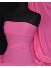 Paris Mesh Non-Lycra 4 Way Stretch Light Jersey Fabric- Barbie Pink Q450 BBPN