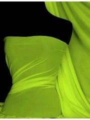 Paris Mesh Non-Lycra 4 Way Stretch Light Jersey Fabric- Flo Lime Q450 FLM