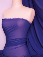 Chiffon Soft Touch Sheer Fabric Material- French Blue Q354 FBL