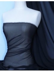 Silky Chiffon Sheer Fabric Material- Midnight Navy Q727 MDNY