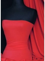 Clearance Matt Lycra 4 Way Stretch Lightweight Fabric- Red SQ66 RD