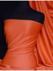 Scuba Stretch Poly Lycra Fabric- Tropical Orange Q792 TROR