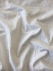 Clearance Cotton Elastine Lightweight 4 Way Stretch Fabric- White SQ217 WHT
