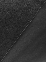 Clearance (90 cms) Micro Fleece Jersey Backed Stretchy Sports Fabric- Black SQ219 BK