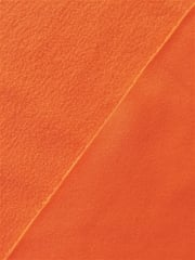 Clearance (90 cms) Micro Fleece Jersey Backed Stretchy Sports Fabric- Flo Orange SQ219 FLOR