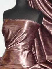 Satin Crushed Charlotte Crinkle Look Creased Fabric- Grape STN63 GRP