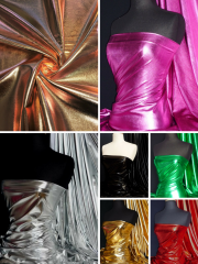 Wet Look Foil Stretch Lycra Fabric- NG253