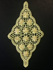 Cotton Crochet Diamond Embellishment- Lemon EM358 LMN