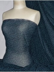 Chiffon Soft Touch Sheer Fabric - Navy/Turquoise Confetti PCH26 NYTQS