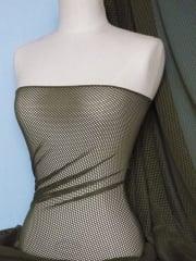 Fishnet 4 Way Stretch Fabric Material- Khaki Green Q1335 KHGR