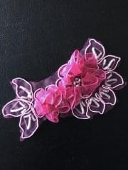 Organza Rose Flower Embellishment- Cerise EM134 CRS