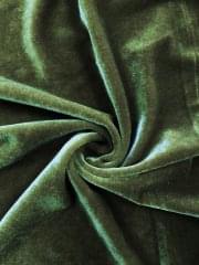 Velvet/Velour 4 Way Stretch Spandex Lycra- Pine Green Q559 PGR