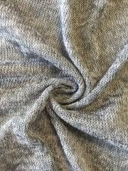 Sweater Knit Acrylic Soft Knitwear Fabric- Marl Grey SQ113 MGR