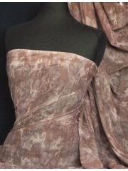 Helenka Mesh Stretch Sheer Fabric- Brown Camouflage Q983 BRN