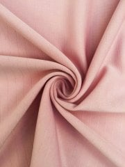 Clearance Scuba Crepe Striped Stretch Jersey Dressmaking Fabric- Tulip Pink CLSCB TPN