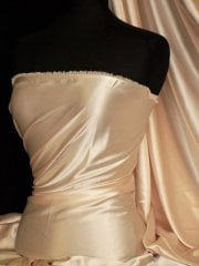Fluid Super Soft Satin Stretch Fabric- Champagne Q855 CHAMP