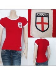100% Cotton England Football T-Shirt- Red