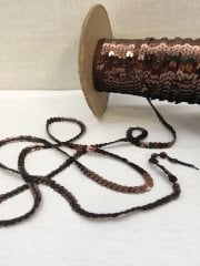 3 Metres Sequin String Trimming- Brown SY61 BRN