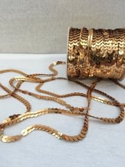 3 Metres Sequin String Trimming- Gold SY61 GLD