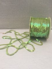 3 Metres Sequin String Trimming- Lime Green SY61 LMGR