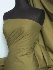 Poly Cotton Material- Henna Green Q460 HEN