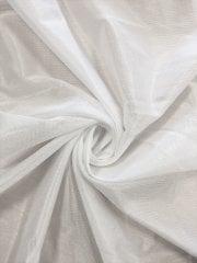 Polyester Nylon Stretch Lining Fabric- White SQ152 WHT