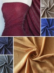 Slinky Shimmer Glitter 4 Way Stretch Fabric- Q1183